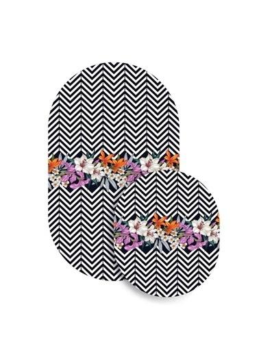Soley 2'Li Oval Süngerli Banyo Paspası Renkli